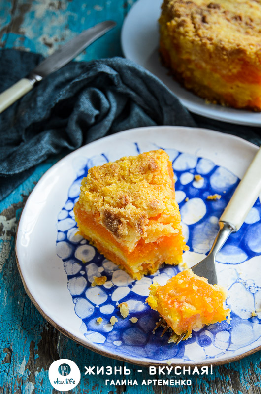 насыпной пирог с тыквой рецепт