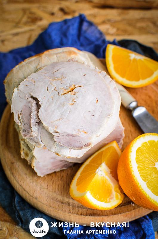 рецепт запеченной свинины с апельсинами
