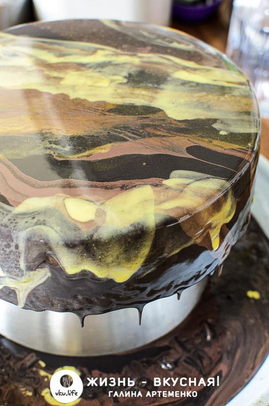 торт три шоколада с фото пошагово