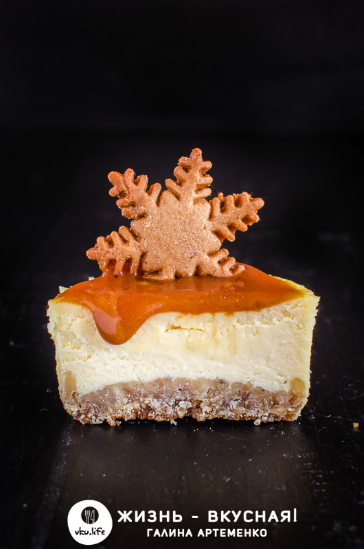 домашний чизкейк из творога и печенья