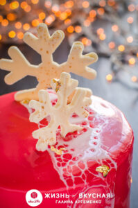 домашний новогодний торт