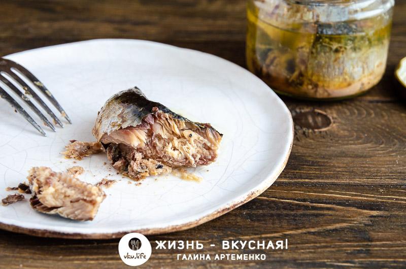 рыбные консервы в духовке