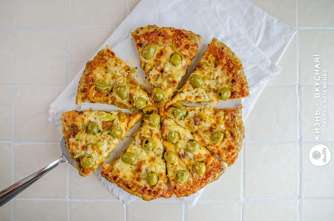 пицца из мяса