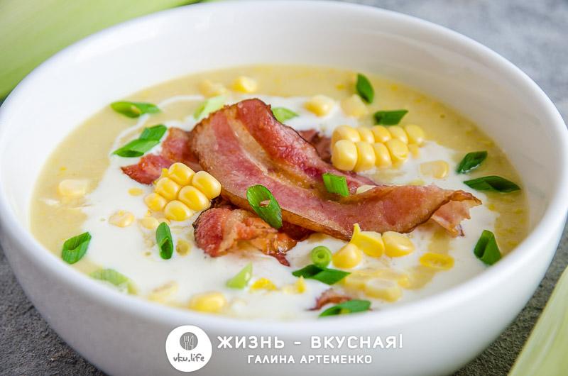 рецепт супа с кукурузой