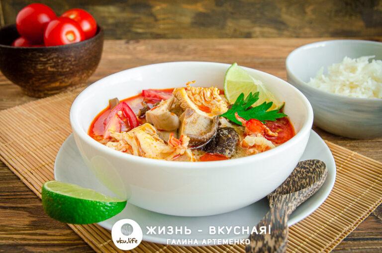 кокосовый суп том ям рецепт
