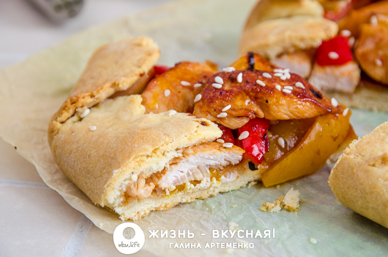 курица с болгарским перцем пирог