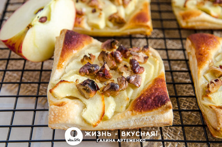 слойки с яблоками рецепт из слоеного теста