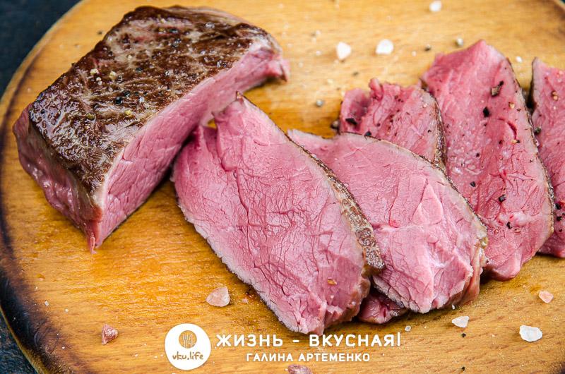 стейк из говядины сувид
